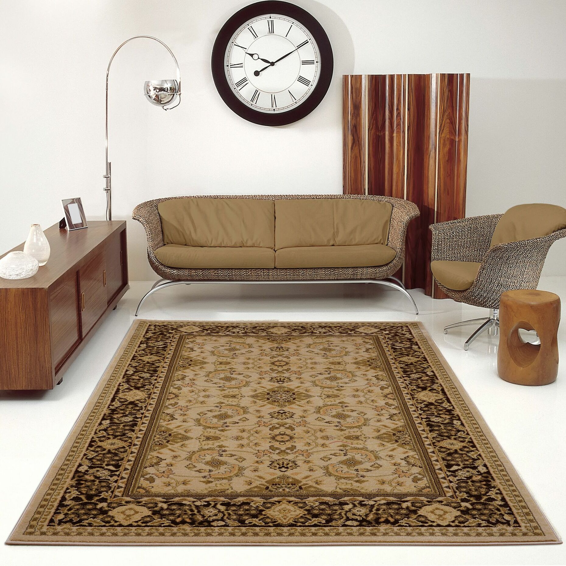 Austell Brown Area Rug Rug Size: 6'5