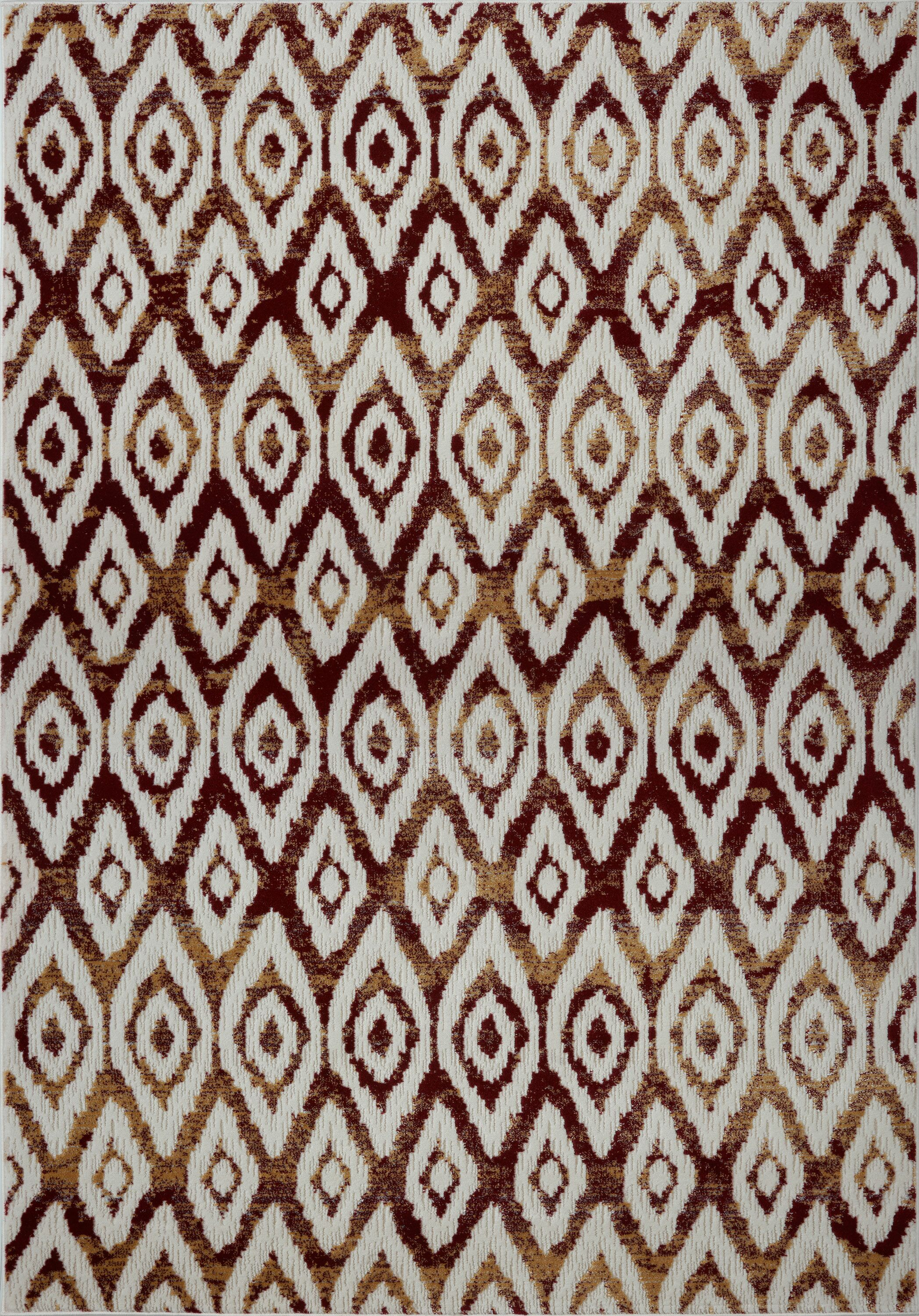 Azure White/Brown Area Rug Rug Size: 2'7