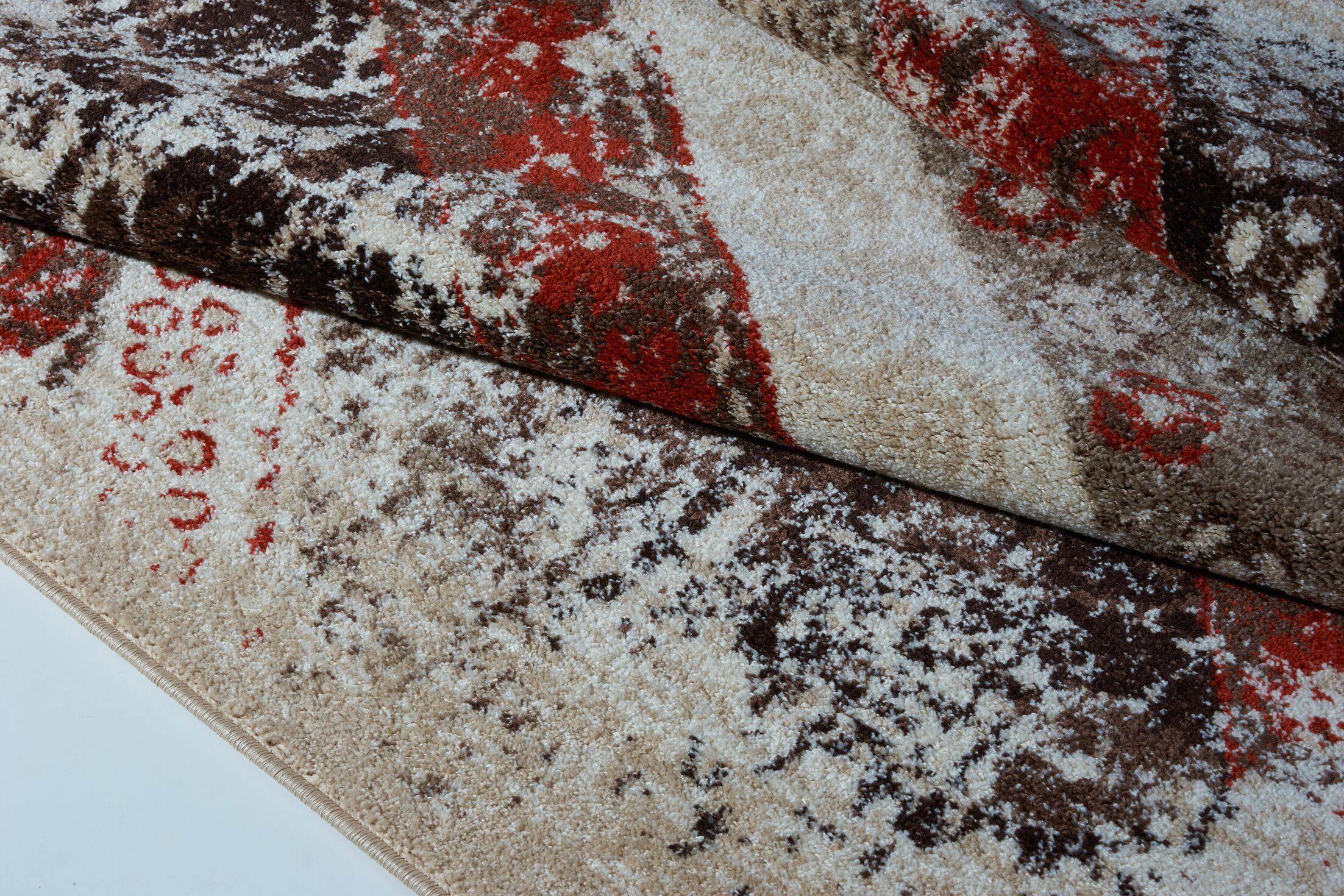 Voigt Cream/Brown/Blue Area Rug Rug Size: Rectangle 7'5