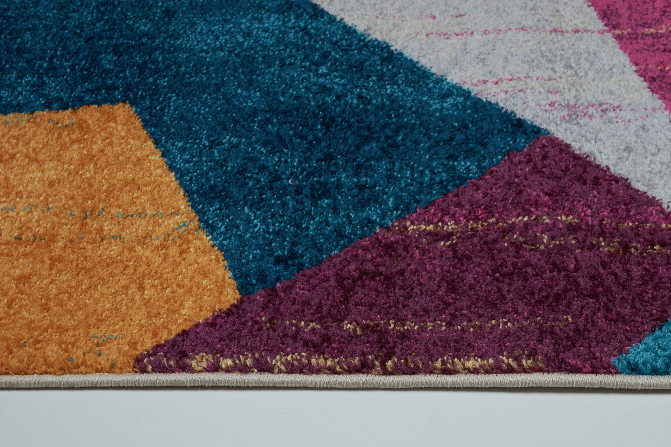 Volker Yellow/Blue Area Rug Rug Size: Rectangle 7'5