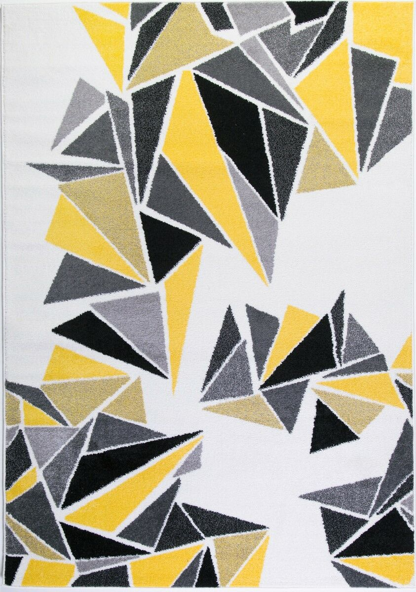 Crigler Triangles Yellow/Gray Area Rug Rug Size: Rectangle 5'3