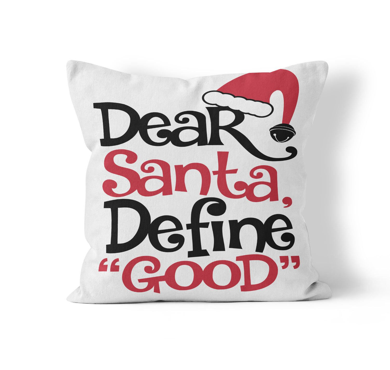 Dear Santa Throw Pillow Size: 16