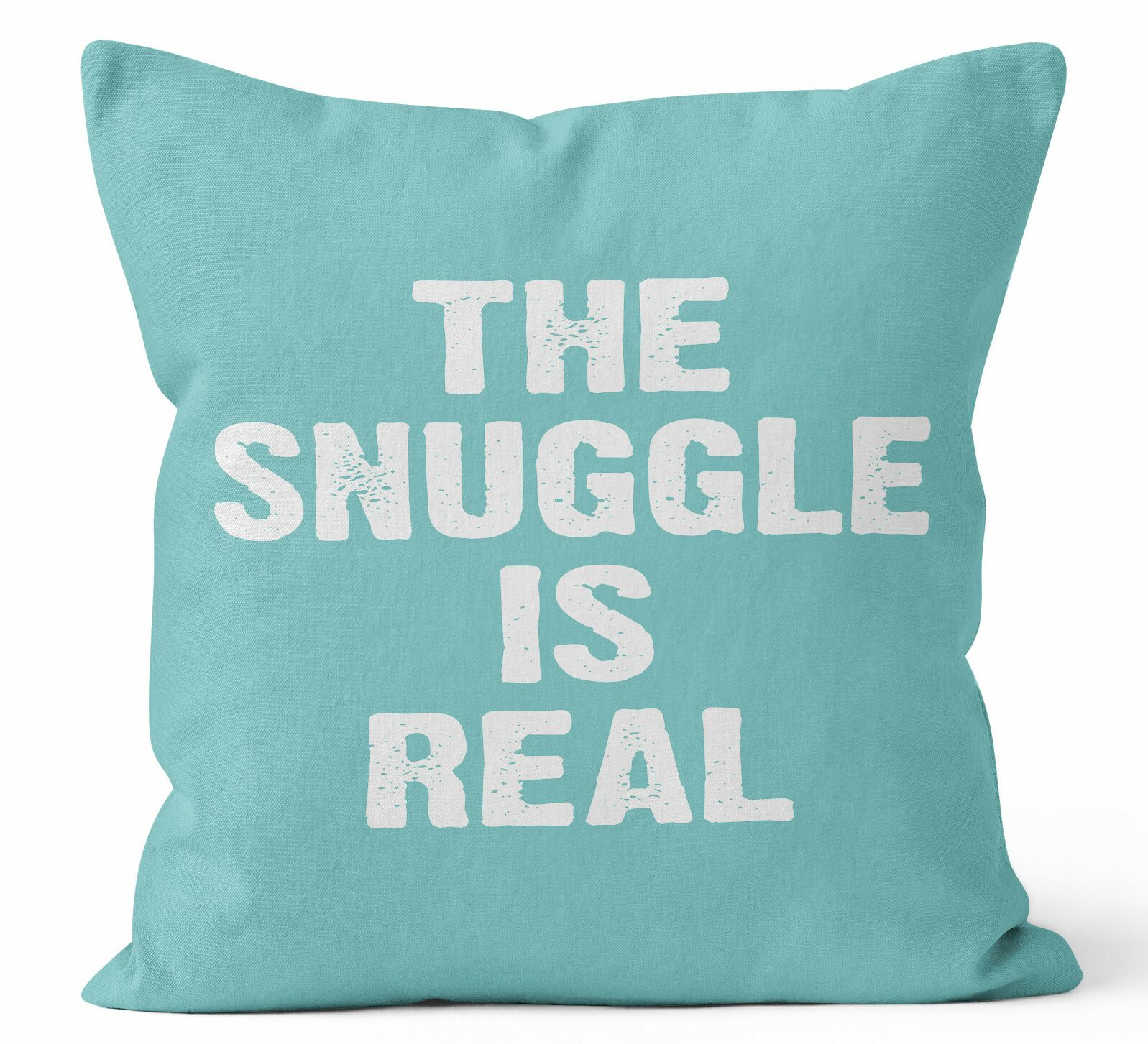 The Snuggle is Real Throw Pillow Size: 16