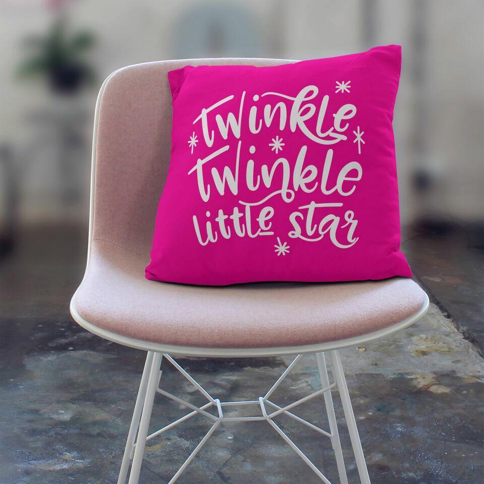 Twinkle Twinkle Little Star Throw Pillow Size: 18
