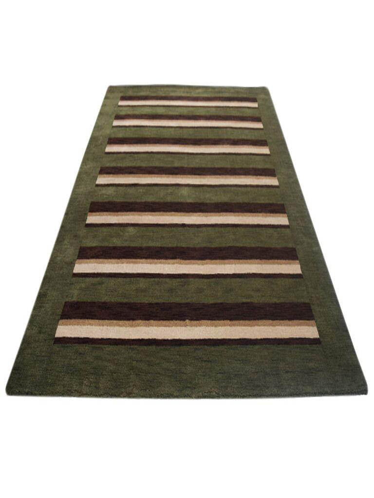 Komarek Hand-Woven Green/Brown Area Rug Rug Size: Rectangle5' x 8'