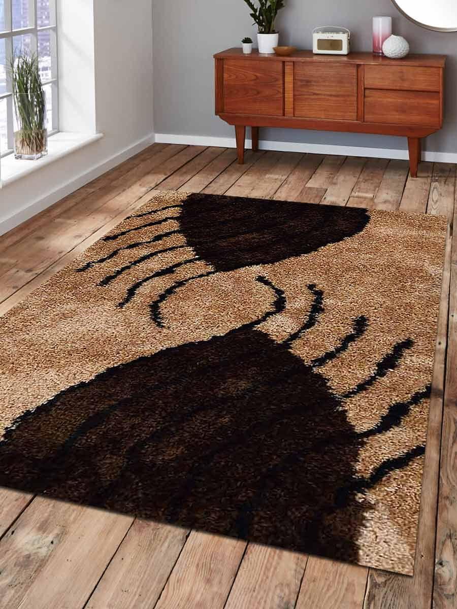 Daniella Contemporary Hand-Woven Beige/Brown Area Rug Rug Size: Rectangle10' x 14'