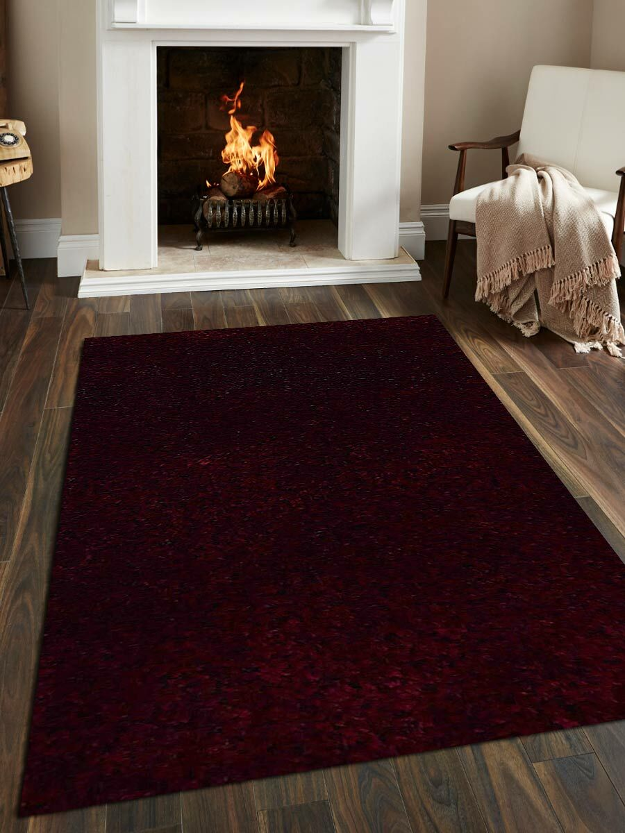 Sanford Solid Hand-Woven Violet Area Rug Rug Size: Rectangle6' x 9'