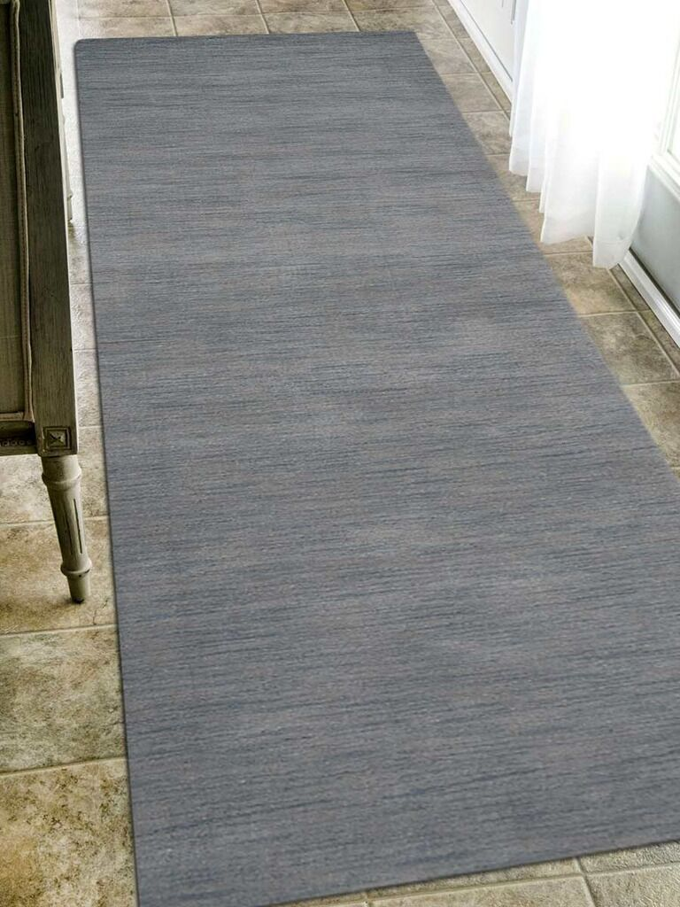 Riggio Hand-Knotted Wool Gray Area Rug Rug Size: Runner 2'6