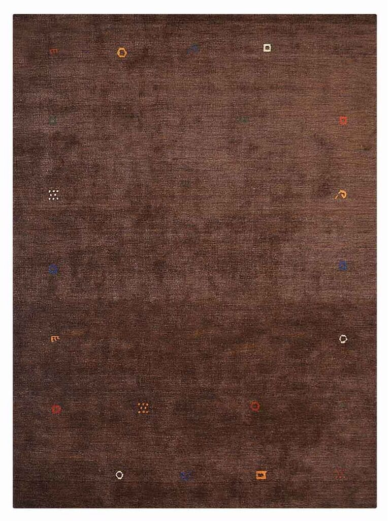 Mullins Hand-Knotted Wool Brown Area Rug Rug Size: Rectangle 6' x 9'