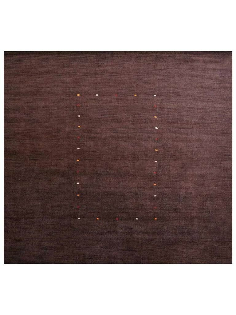 Maggiemae Hand-Woven Wool Brown Area Rug Rug Size: Square 10'