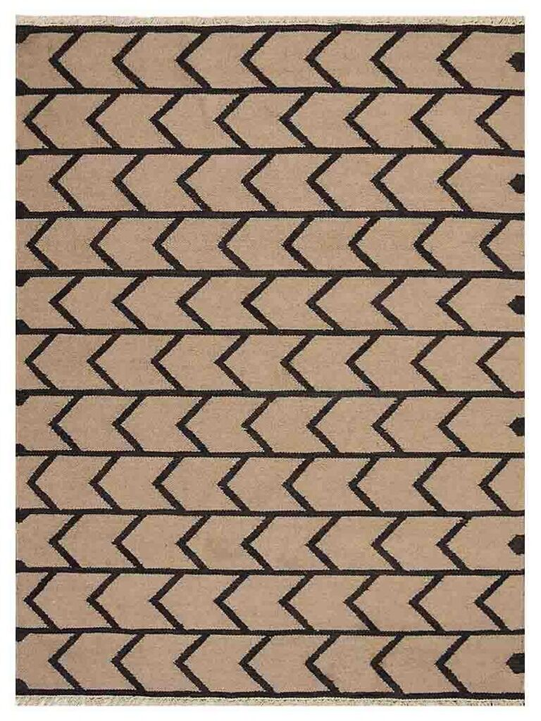 Alisia Hand-Woven Cream/Charcoal Area Rug Rug Size: Rectangle3' x 5'