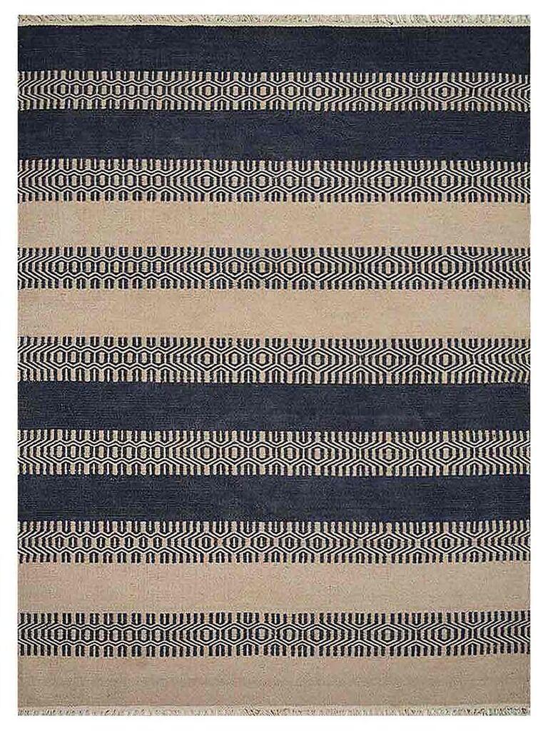 Sacramento Hand-Woven Aqua/Cream Area Rug Rug Size: Rectangle3' x 5'