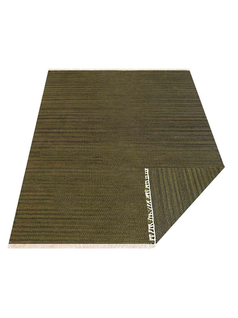 Creede Hand-Woven Wool Green Area Rug Rug Size: Rectangle 7' x 9'