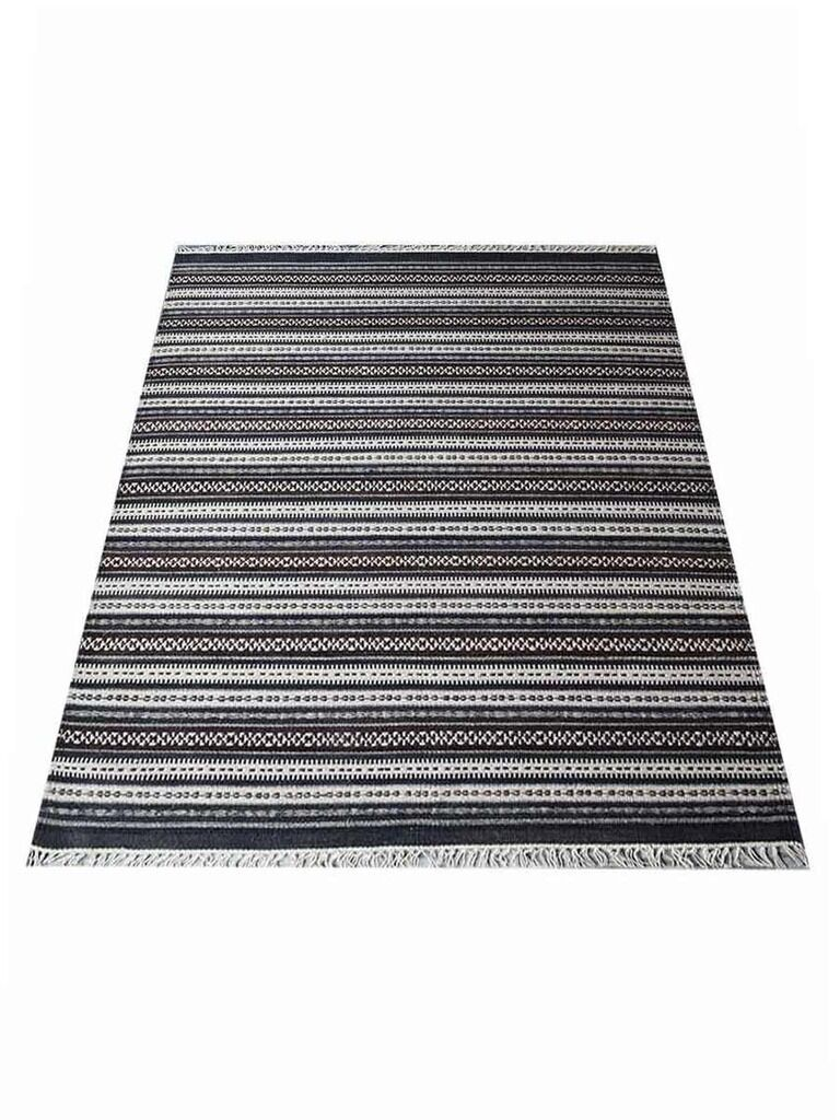 Cleland Hand-Woven Wool Gray Area Rug Rug Size: Rectangle 5' x 8'
