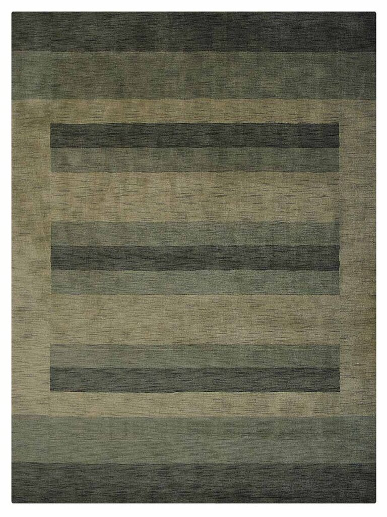 Stavros Hand-Woven Wool Green/Beige Area Rug Rug Size: Rectangle6' x 9'
