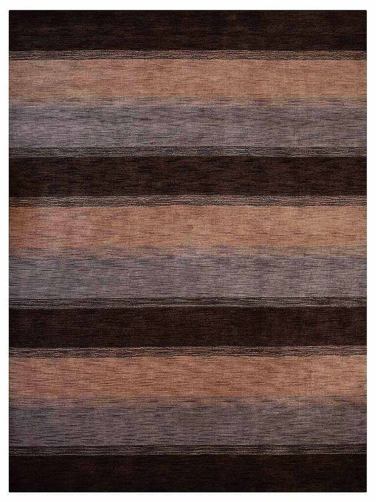 Ry Hand-Woven Wool Brown/Beige Area Rug Rug Size: Rectangle 8' x 10'