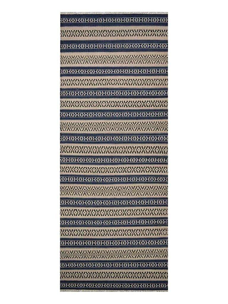 Melbourne Hand-Woven Aqua/Cream Area Rug Rug Size: Runner 2'6