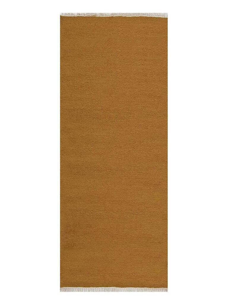 Creasman Hand-Woven Wool Gold Area Rug Rug Size: Runner 2'6