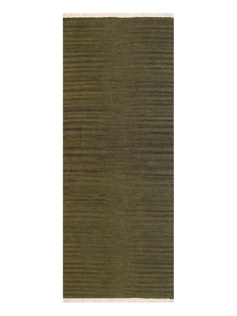 Creede Hand-Woven Wool Green Area Rug Rug Size: Runner 2'6