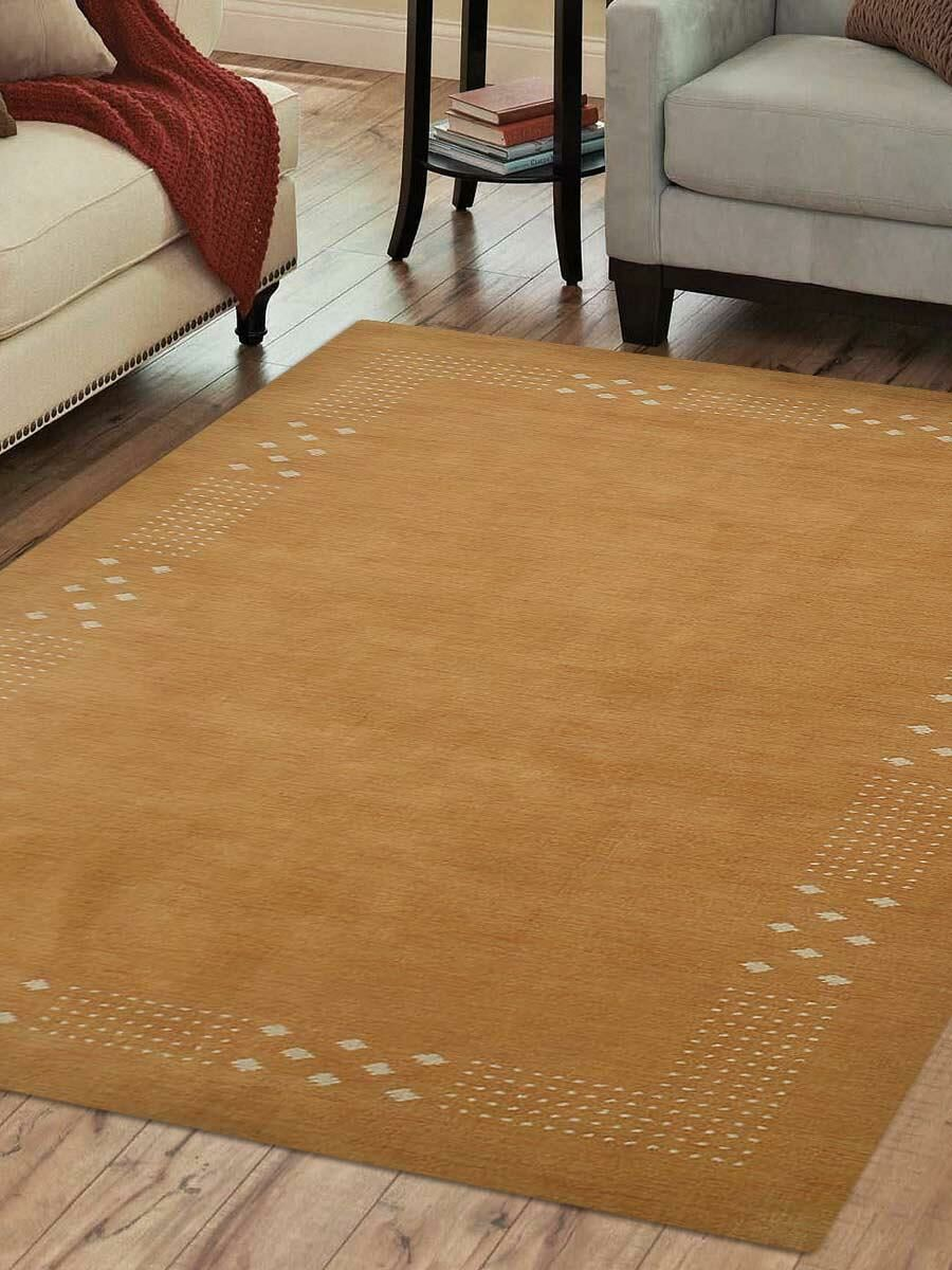 St Catherine Hand-Knotted Wool Gold Area Rug Rug Size: Rectangle 10' x 13'