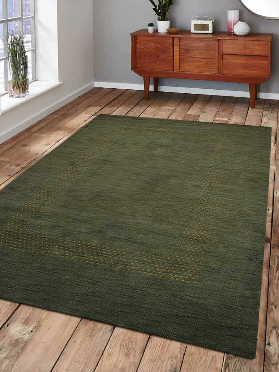 St Catherine Hand-Knotted Wool Green Area Rug