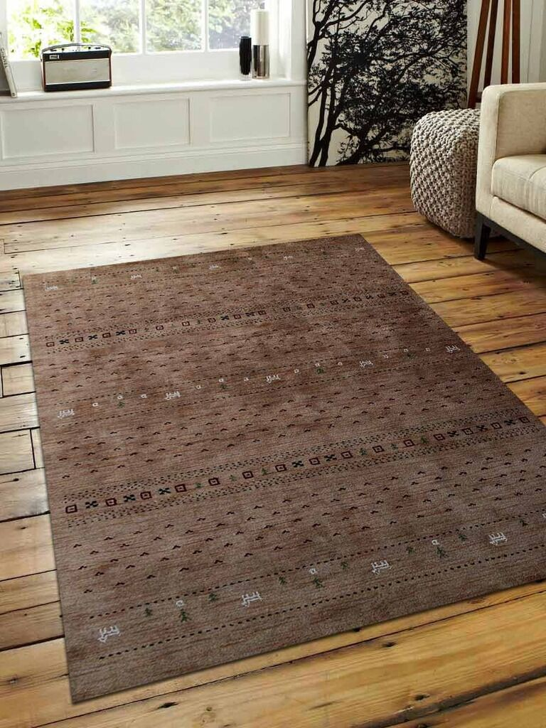 St Catherine Hand-Knotted Wool Light Brown Area Rug Rug Size: Rectangle 6' x 9'