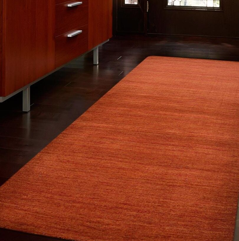 Creager Hand-Tufted Wool Light Red Area Rug Rug Size: Runner 2'6