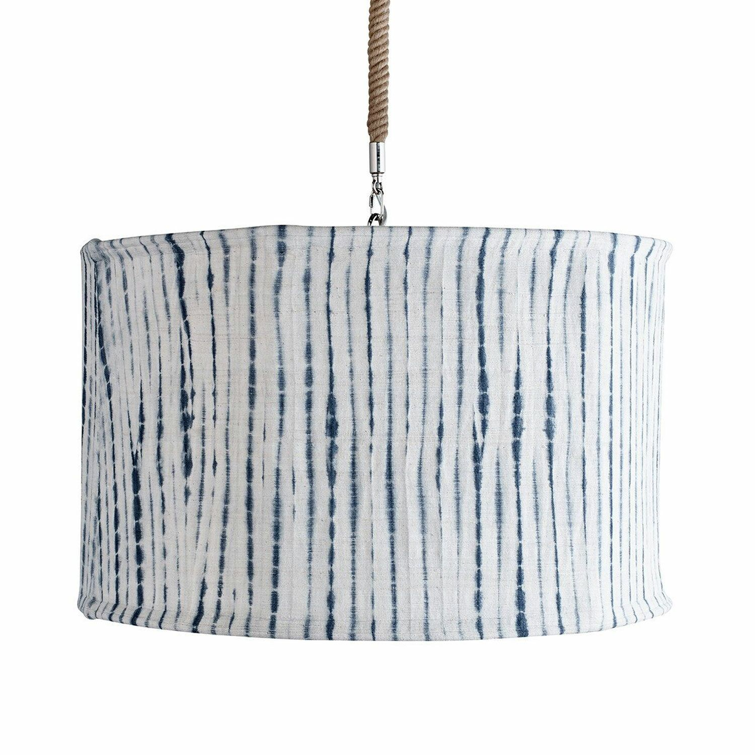 Suffolk Slipcover Drum Pendant Shade Color: Indigo Tie Dye