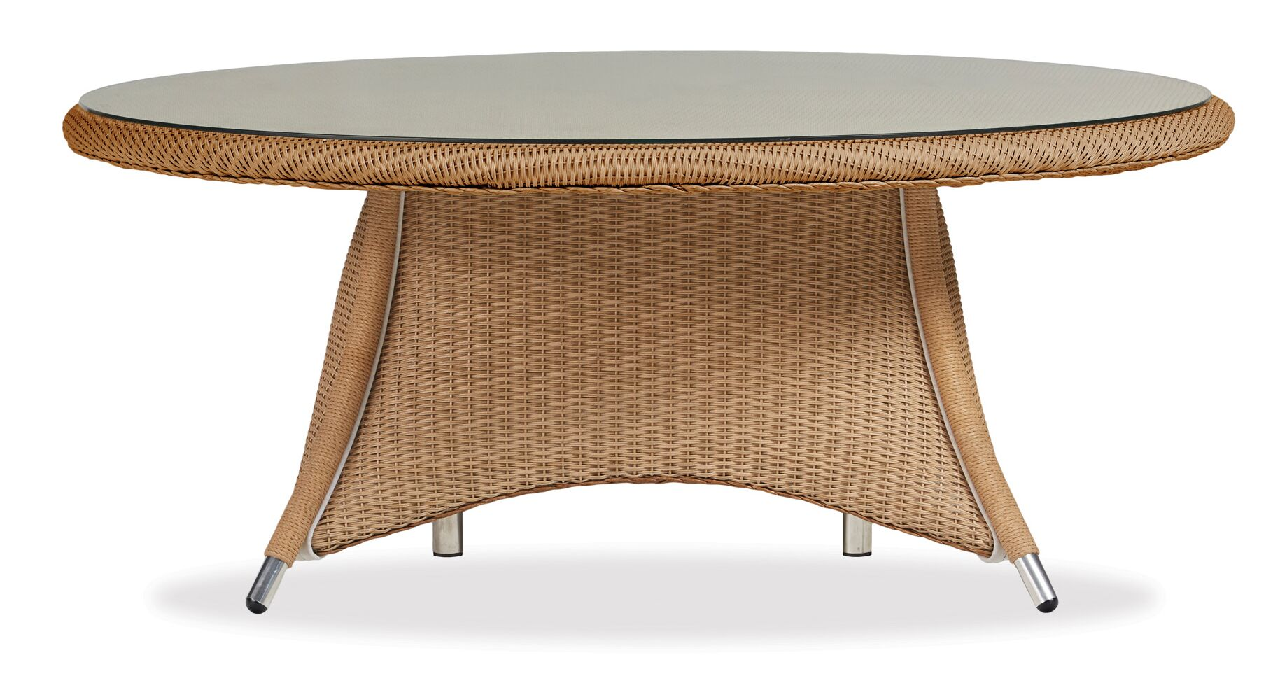 Generations Conversation Wicker Rattan Chat Table Finish: Premium Sea Glass
