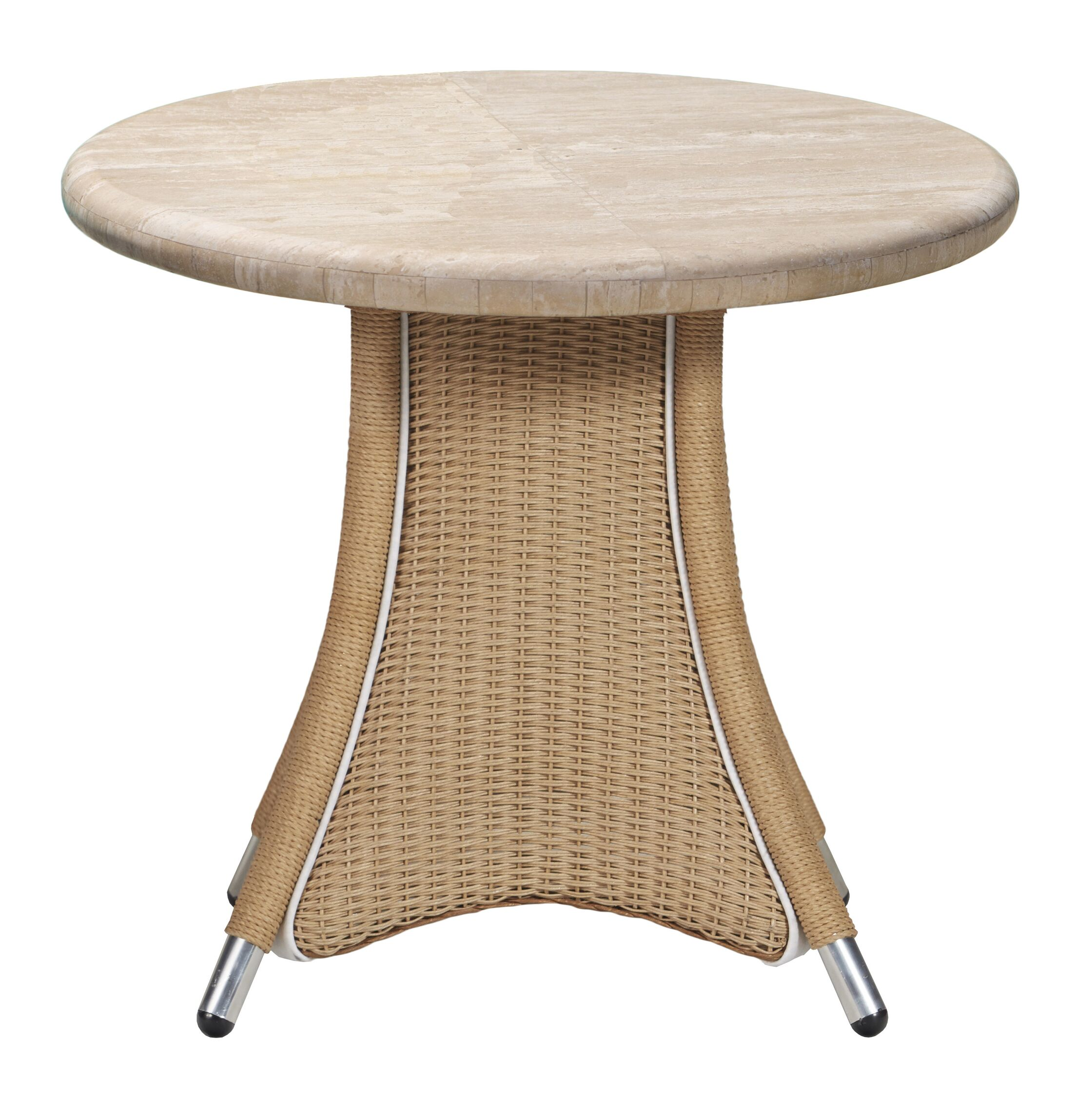 Generations Wicker Rattan Dining Table Finish: White