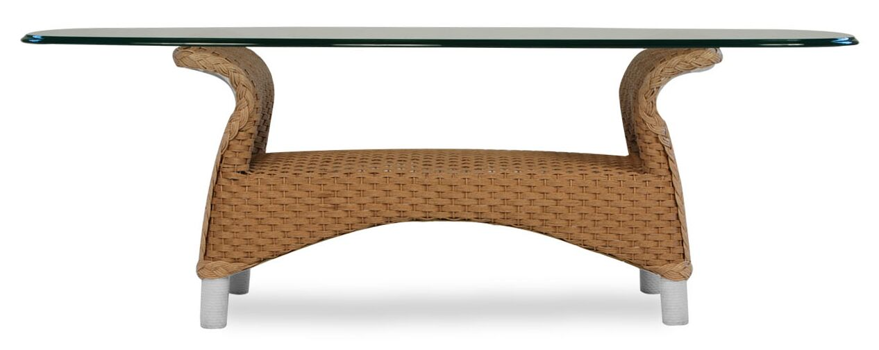 Mandalay Wicker Rattan Coffee Table Finish: Premium Ash