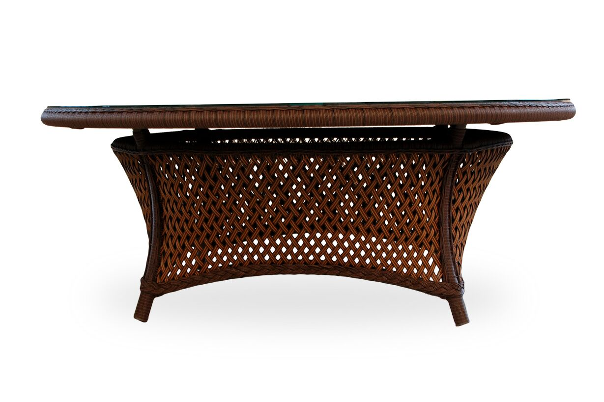 Grand Traverse Wicker Rattan Chat Table Finish: Caramel