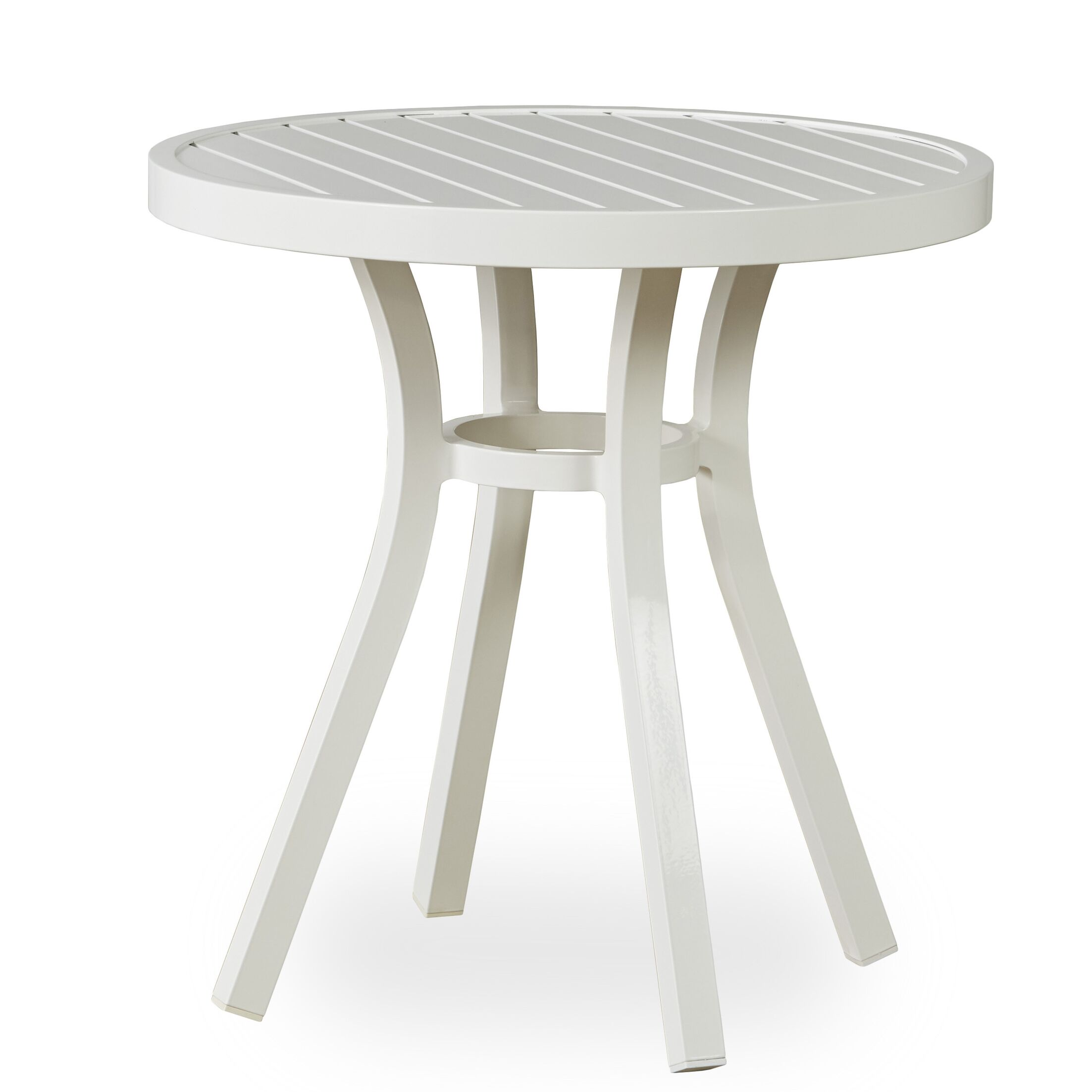 Lux Aluminum Bistro Table Frame Color: Gloss White