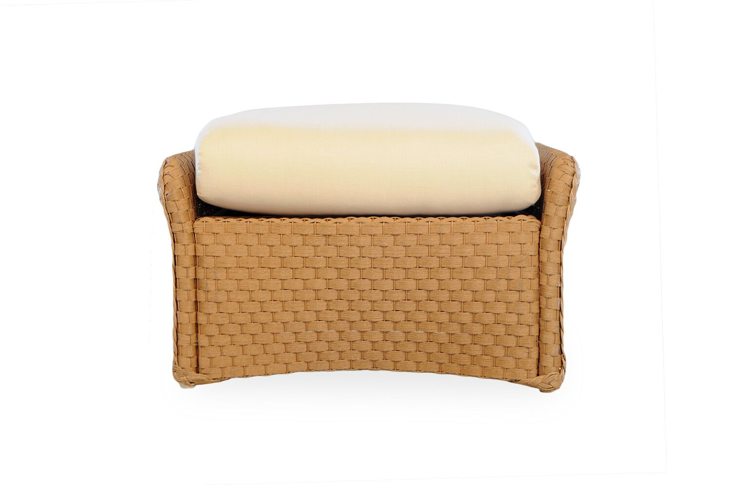 Weekend Retreat Woven Ottoman with Cushion