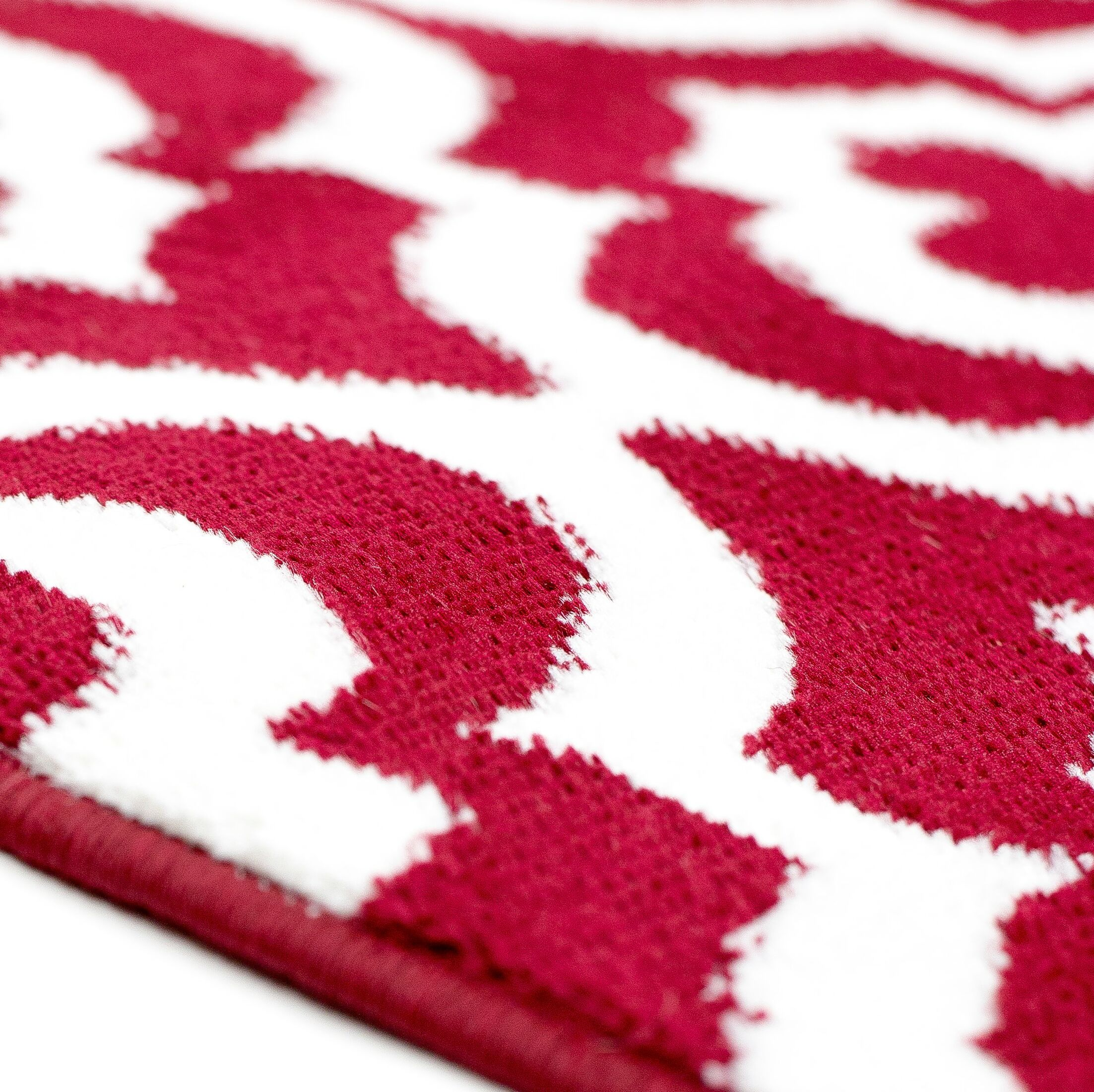 Weekley Rehash Hand-Tufted Pink/White Area Rug Rug Size: Rectangle 8' x 10'