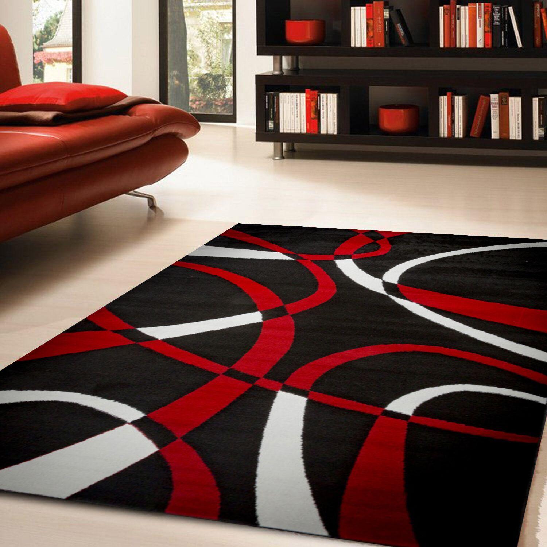 Katelynn Dark Red Area Rug Rug Size: 8' x 10'