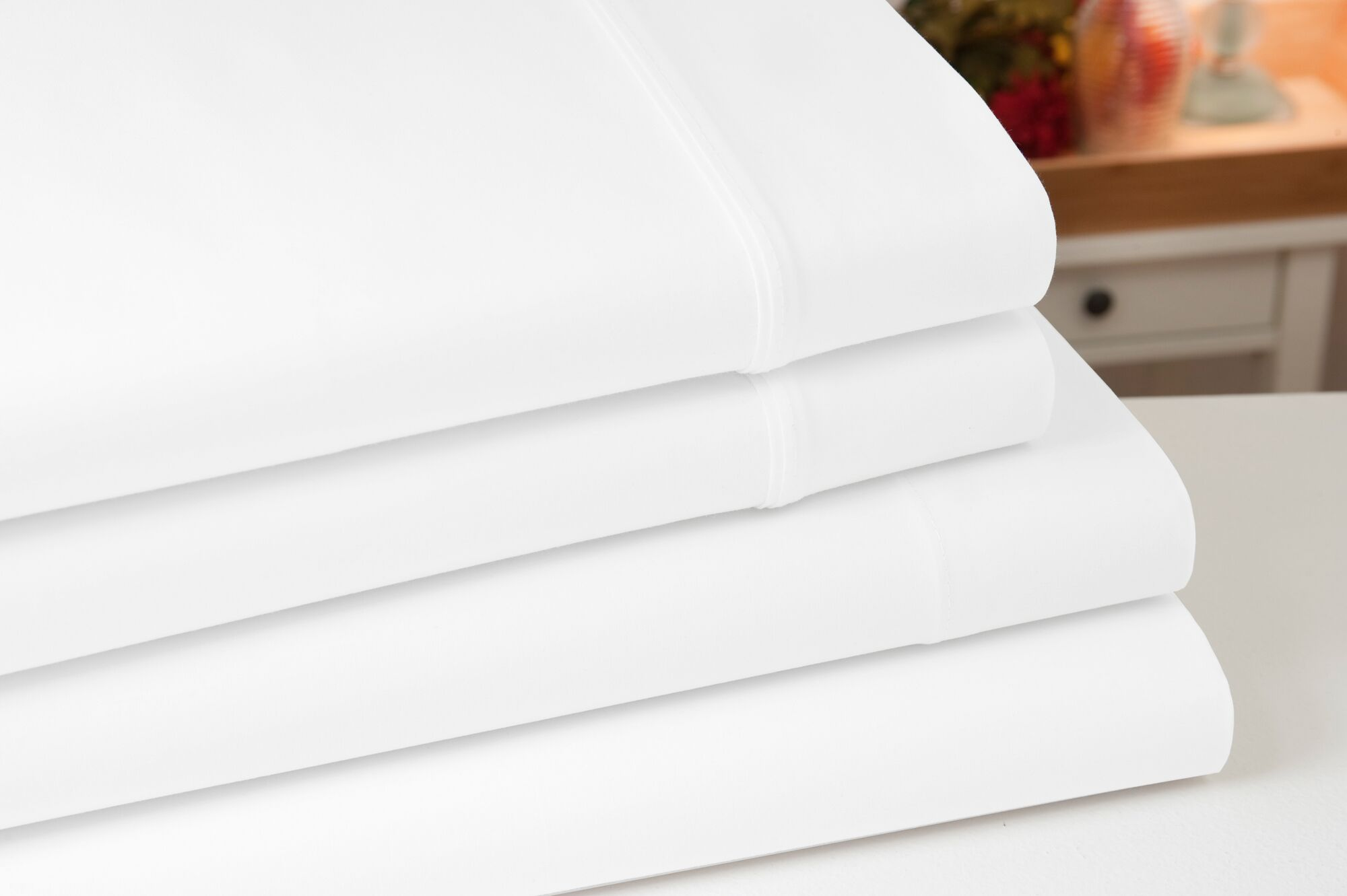 Greenburgh 200 Thread Count 100% Organic Cotton Sheet Set Color: White, Size: Full