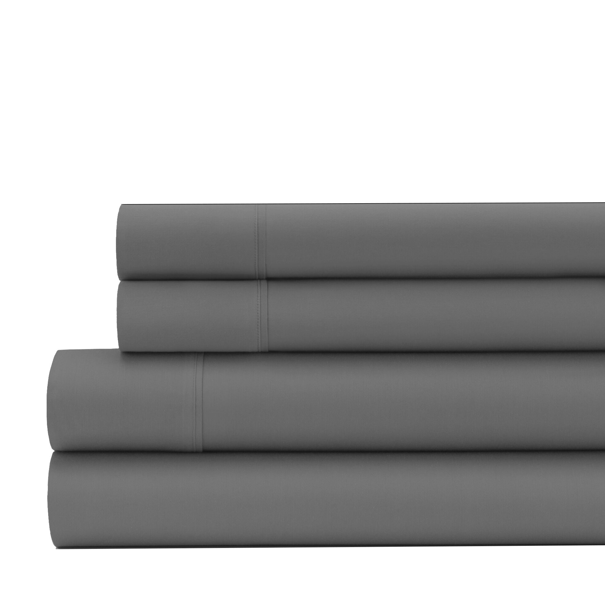 Greenburgh 200 Thread Count Organic Cotton Sheet Set Size: Full, Color: Slate Gray