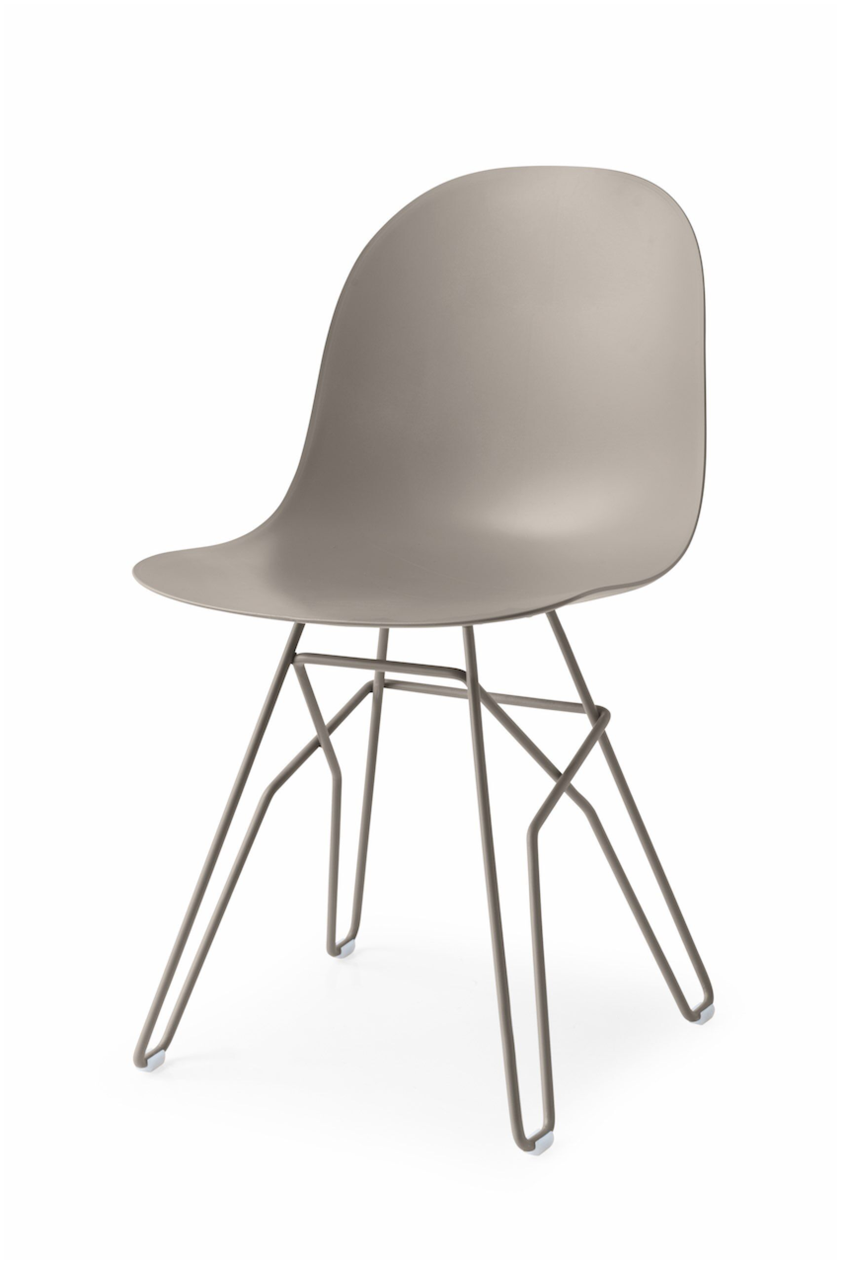 Academy Metal Rod Base Side Chair Finish: Matt Nougat, Upholstery: Matt Nougat