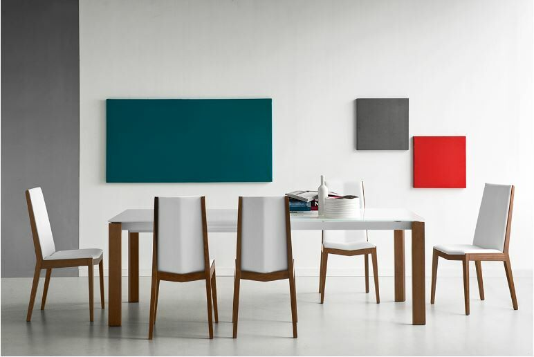 Layton Wooden Legs Extendable Dining Table Top Finish: Stone Gray, Base Finish: Gray / Walnut, Size: 30