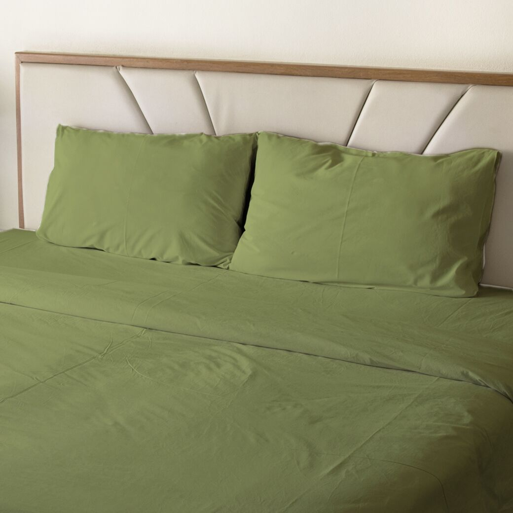 Erlandson Egyptian-Quality Cotton Feel Extra Soft 1800 Thread Count Microfiber Sheet Set Size: Queen, Color: Sage Green