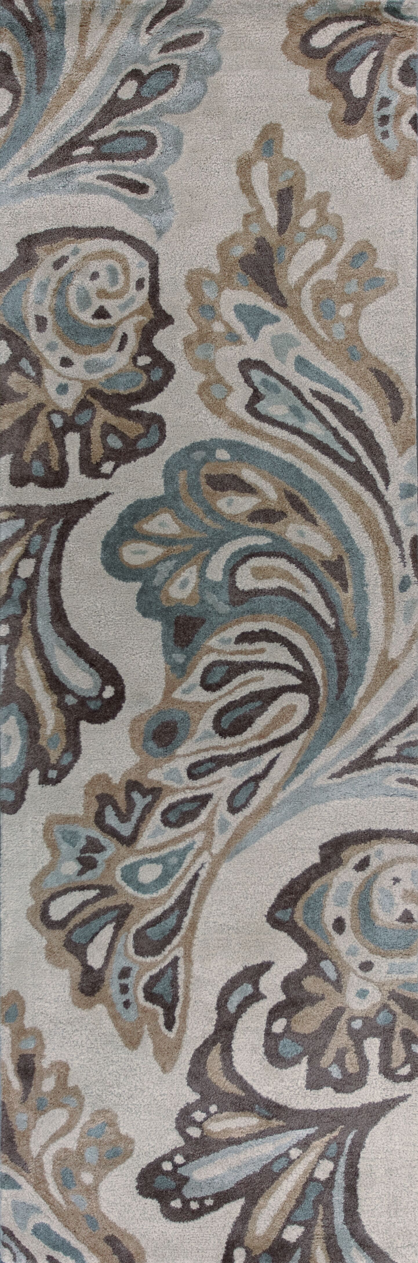 Bob Mackie Home Ivory Showtime Area Rug Rug Size: Runner 2'6
