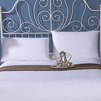 Ultra Luxury 300 Thread Count 100% Cotton Sheet Set Color: White, Size: Queen