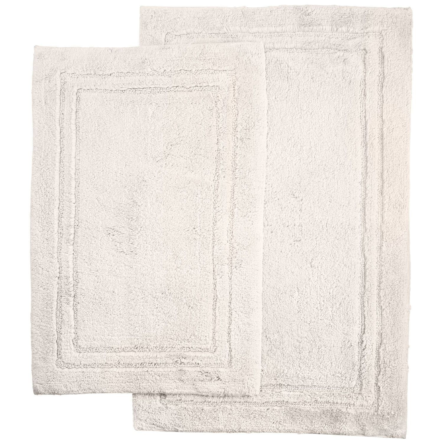 Thackeray 2 Piece Bath Rug Set Color: White