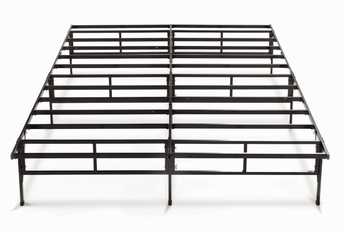 Higbee Easy to Assemble Smartbase Bed Frame Size: King