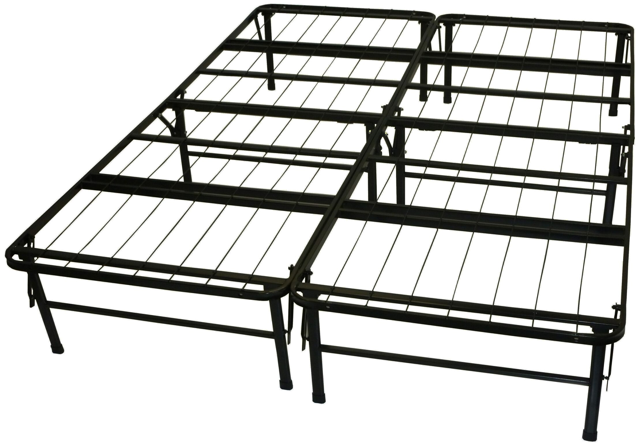 Foundation and Frame-In-One Mattress Support System Platform Bed Frame Size: Queen