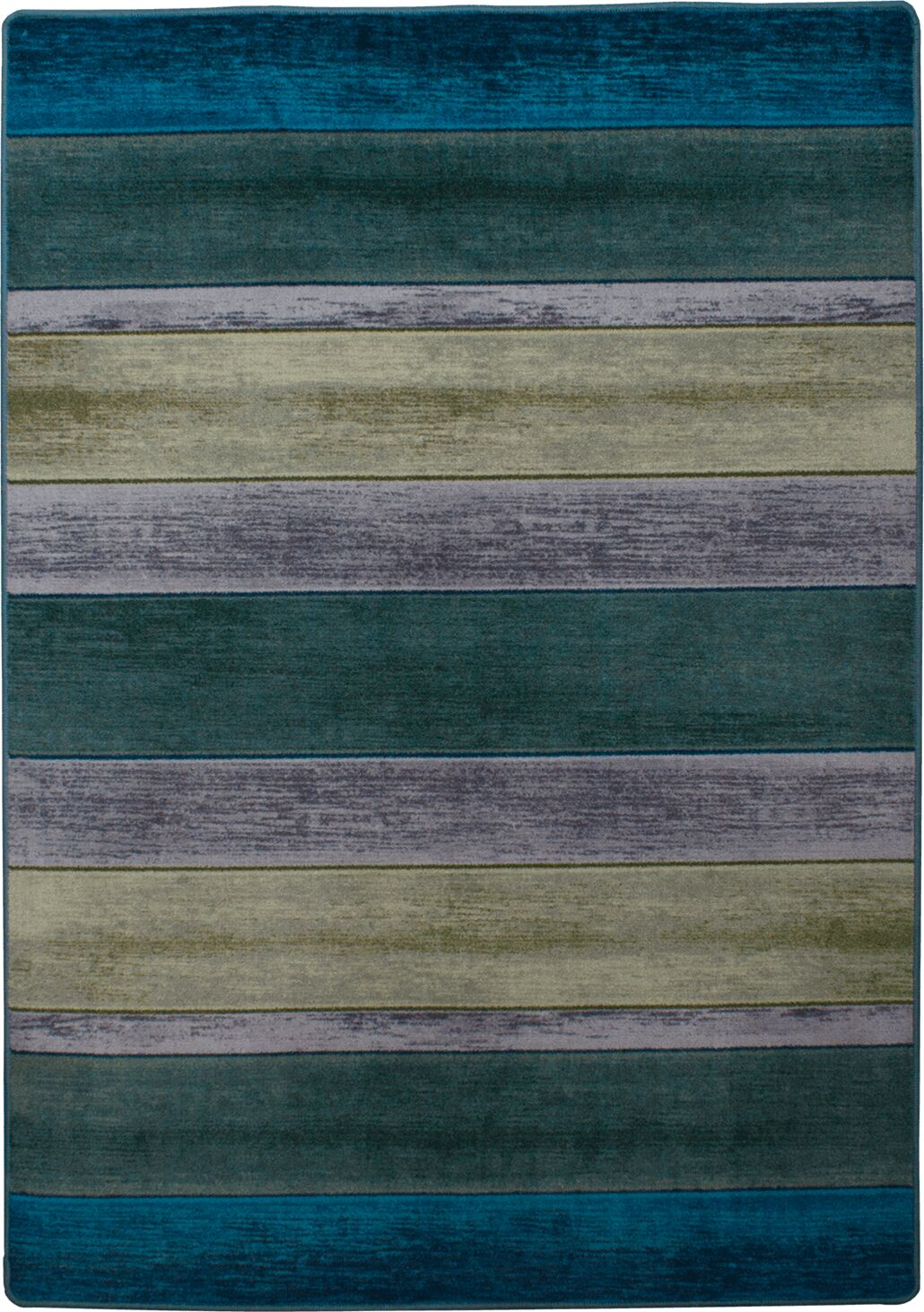 Coastal Bungalow Stripe Aqua Area Rug Rug Size: Rectangle 8' x 11'