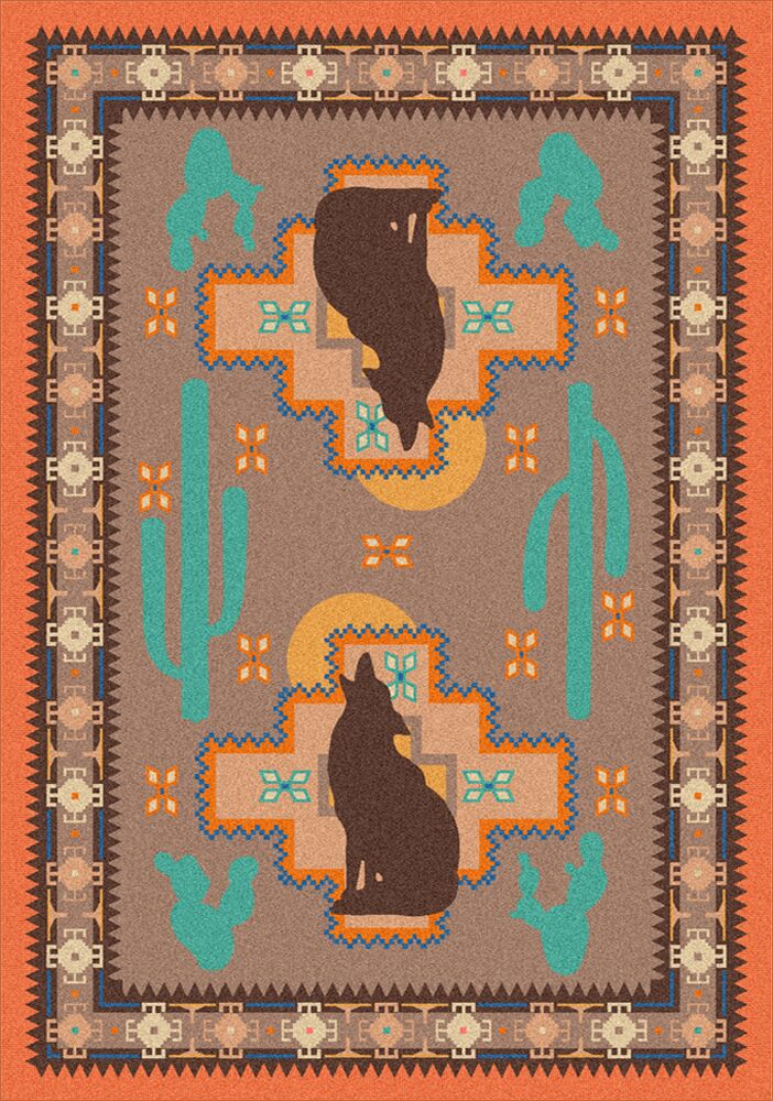 National Park Howl at the Moon Desert Rose Area Rug Rug Size: Rectangle 4' x 5'