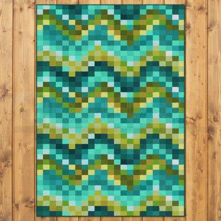 Coastal Spa Tiles Aqua Area Rug Rug Size: Rectangle 3' x 4'