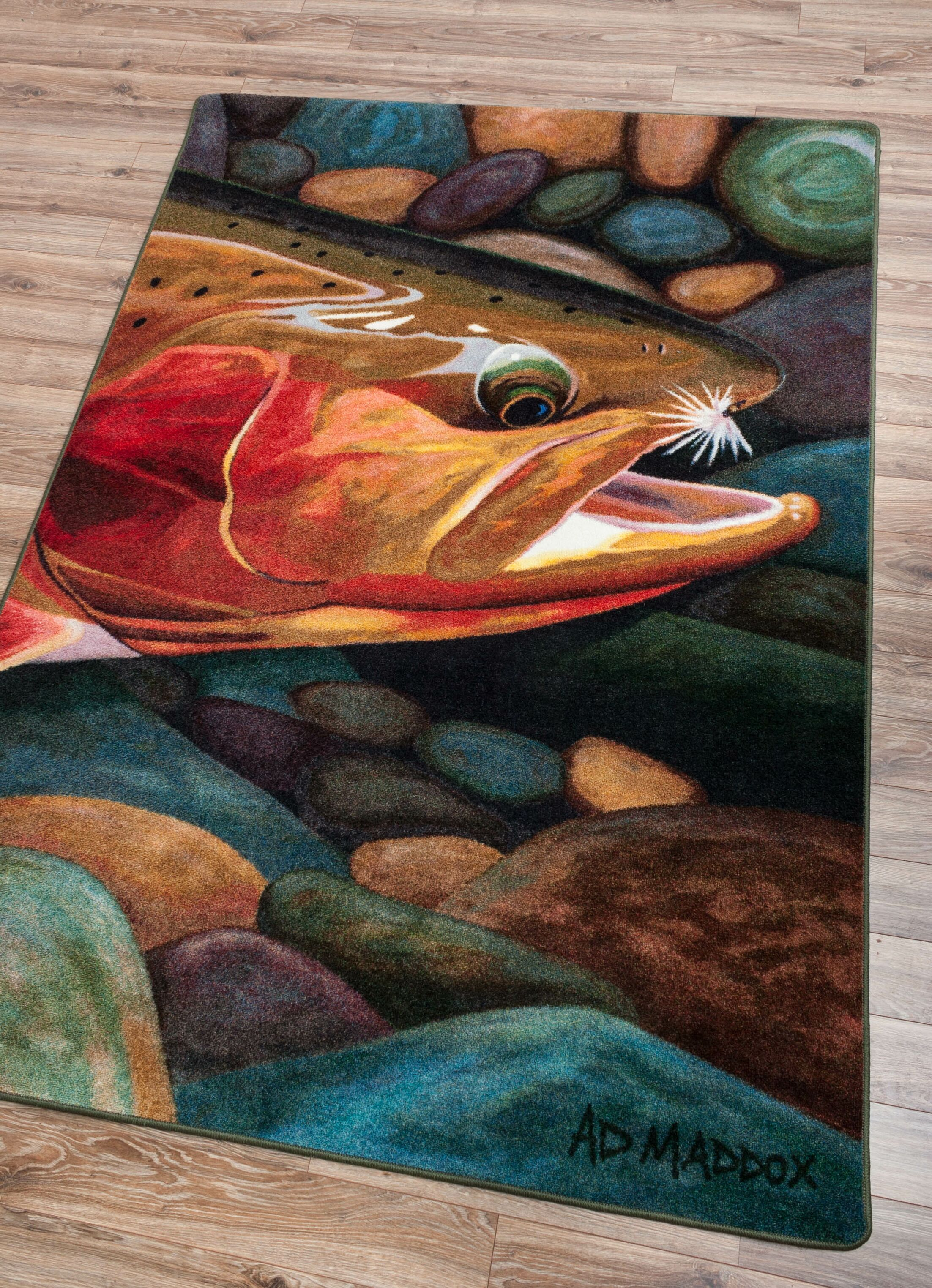 Iaeger Golden Catch Area Rug Rug Size: Rectangle 3' x 4'